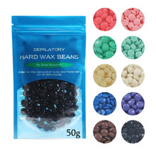 Top selling 10 flavors 50g/Bag Women Men Depilatory Hot Film Hard Wax Pellet Waxing Bikini No Strip Hair Removal Bean TSLM2(China)