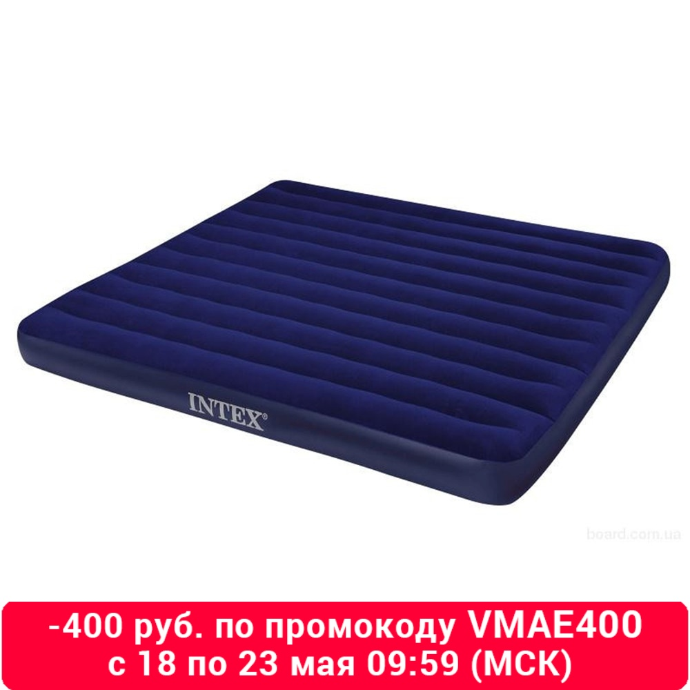 Intex Bed Inflatable Classic Downy (Fiber Tech) King, 1,83 M X 2,03 M X 25 Cm