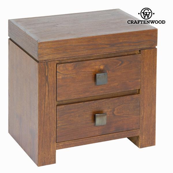 Mesa de cabeceira mindi wood (55x38x54 cm)-coleção nogal de craftenwood