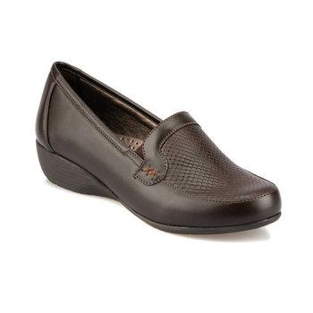 FLO 92 151024CZ brązowe kliny damskie buty Polaris tanie i dobre opinie Trzciny