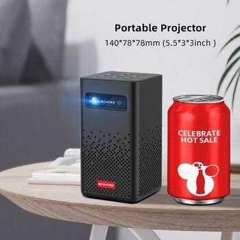BYINTEK-miniproyector portátil P20, dispositivo inteligente con Android, WIFI, vídeo de TV, Pico LED, DLP, Full HD, 1080P, teléfono móvil, PC, Cine en 4K 2