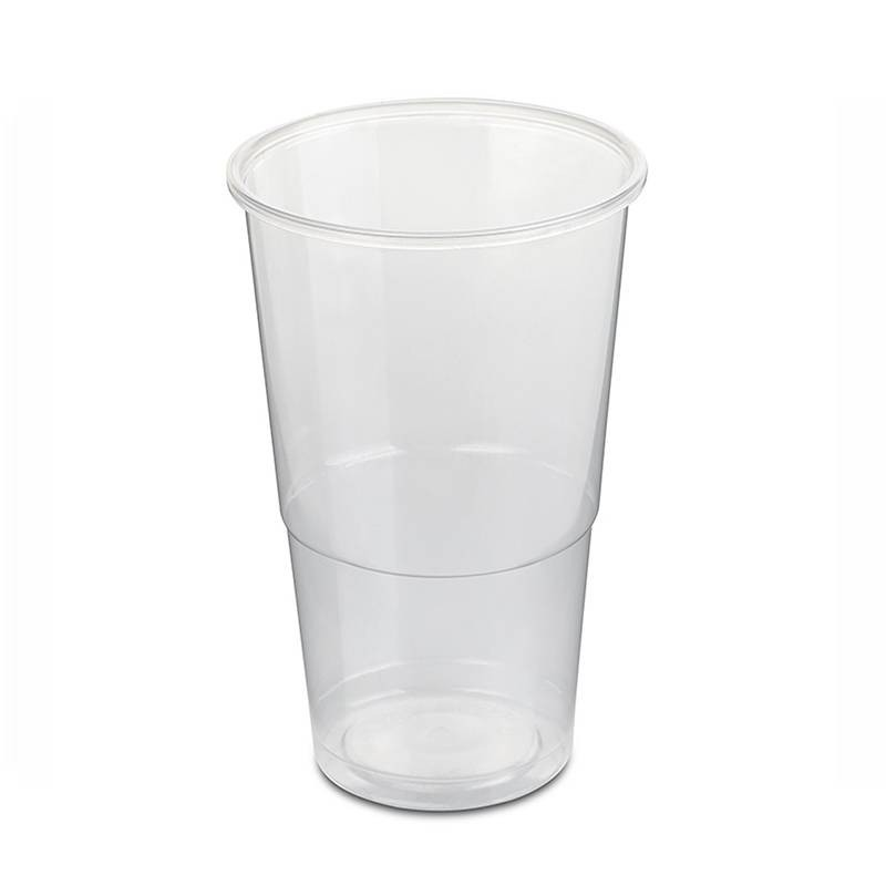 Transparent plastic cups 300cc, 50 PCs