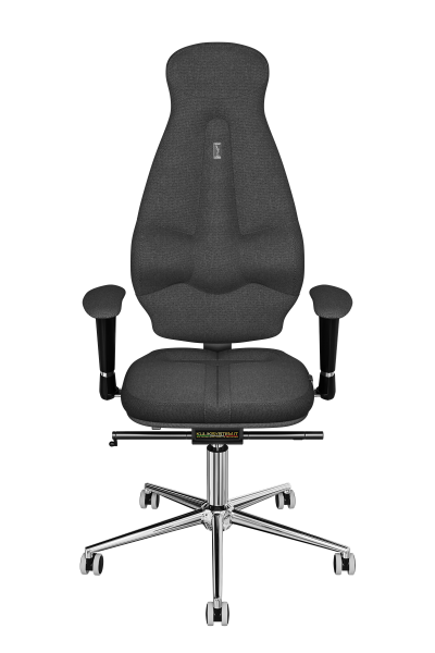 Office Chair KULIK SYSTEM GALAXY Gray Computer Chair Relief And Comfort For The Back 5 Zones Control Spine