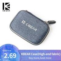 KB EAR-funda de tela de alta gama para auriculares, accesorios para auriculares, funda portátil, absorción de presión y choque, bolsa para empaquetar y almacenar con trii I3