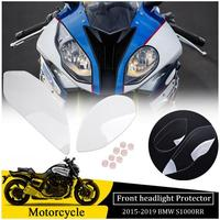 For BMW S1000RR S 1000RR S1000 RR HP4 Front Headlight Lens Cover Accessories Head Lamp Screen Protector 2015 2016 2017 2018 2019