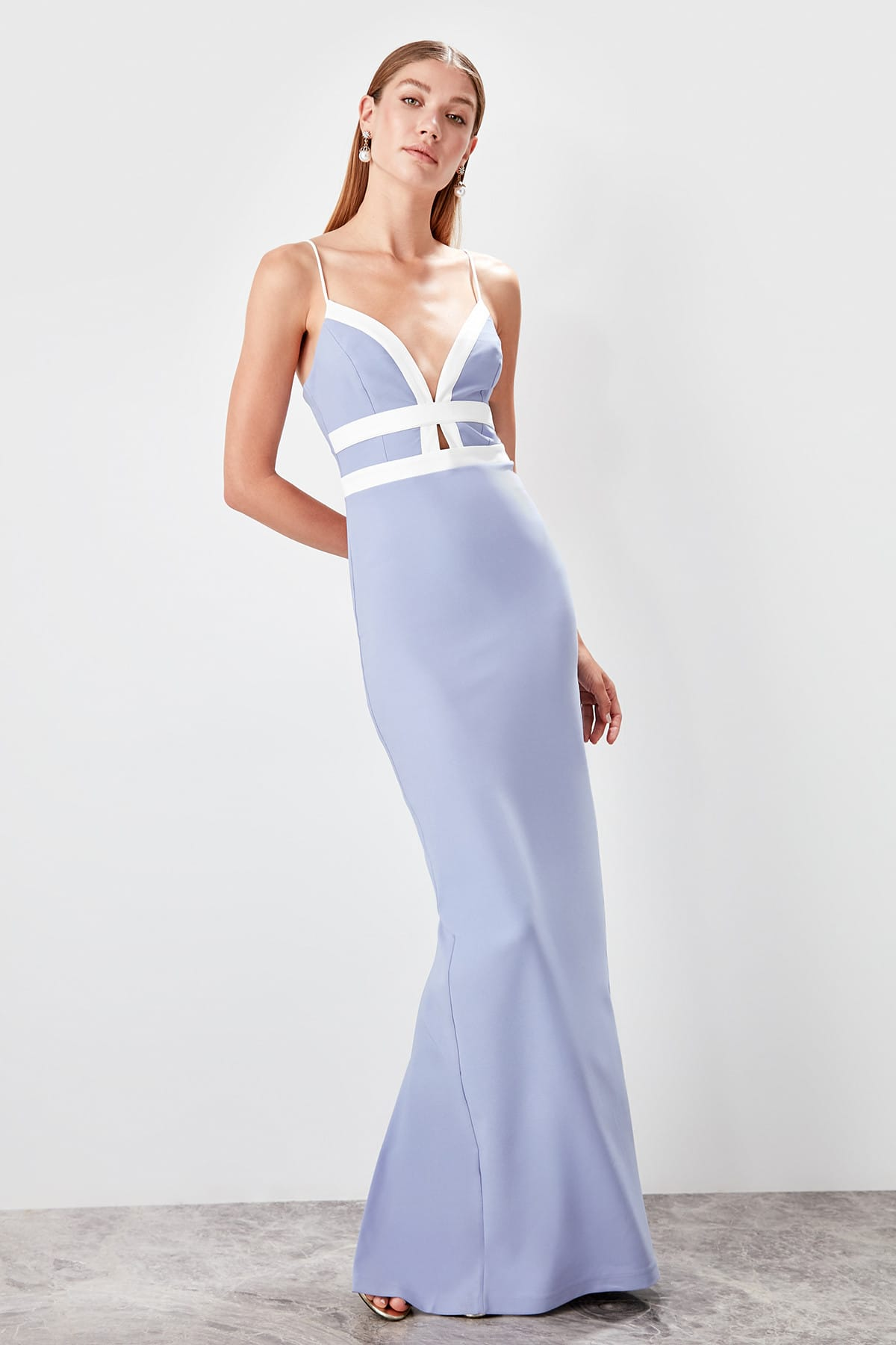 Trendyol With Color Block Evening Dress TPRSS19BB0547
