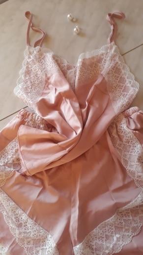 BZEL New Pajamas Sets Sexy Lace Pyjamas For Women V-neck Pijama Femme Summer Sleepwear Satin Nightwear Lingerie Female Underwear