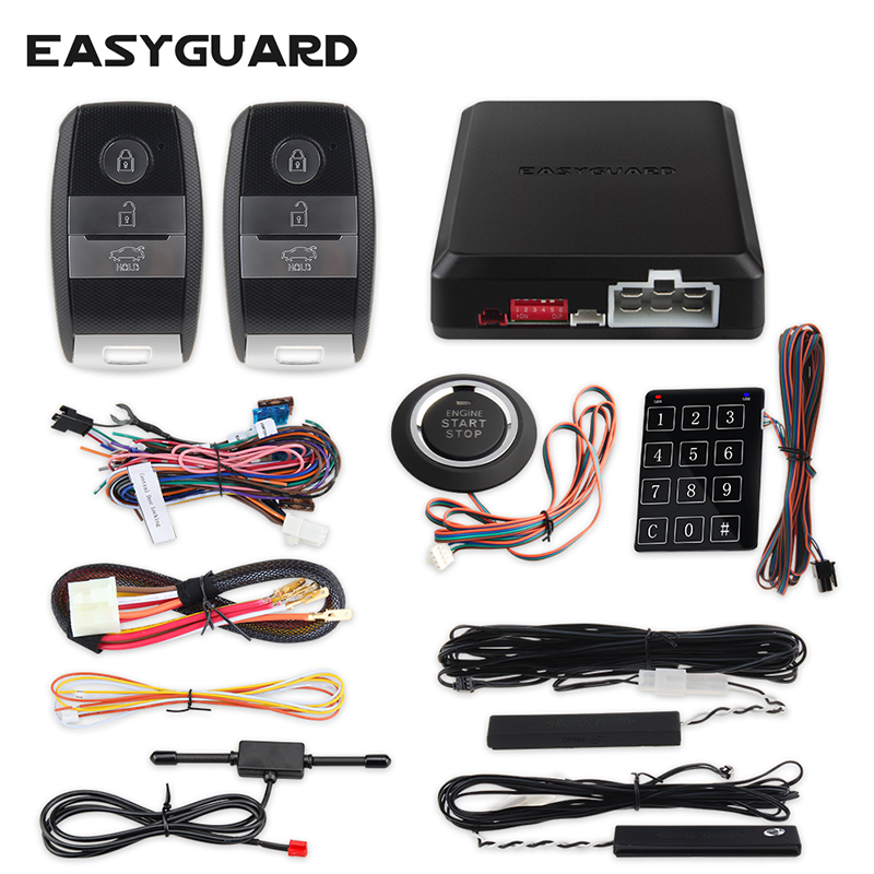 EASYGUARD PKE universal passive keyless entry lock system for car auto start anti theft push button