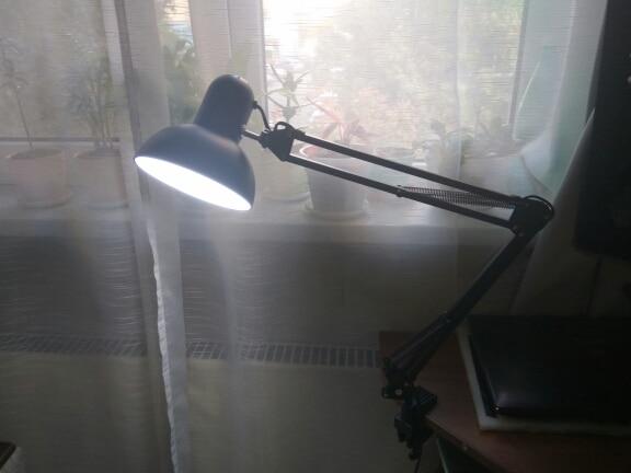 Luminária de mesa Montagem Braçadeira Braçadeira
