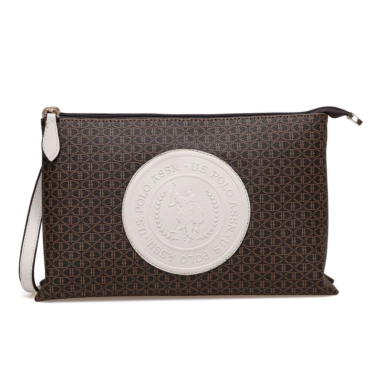 FLO US20223 Brown Women Messenger Bag U.S. POLO ASSN.