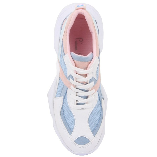 Pierre Cardin-White, Blue & Pink Coloured Women's Sneaker