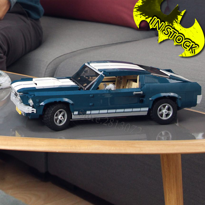 Forded Mustanged  In Stock Creator Car Technic Series  Classic Muscle Race Car 21047 11293 DG023 91024 Blocks Bricks