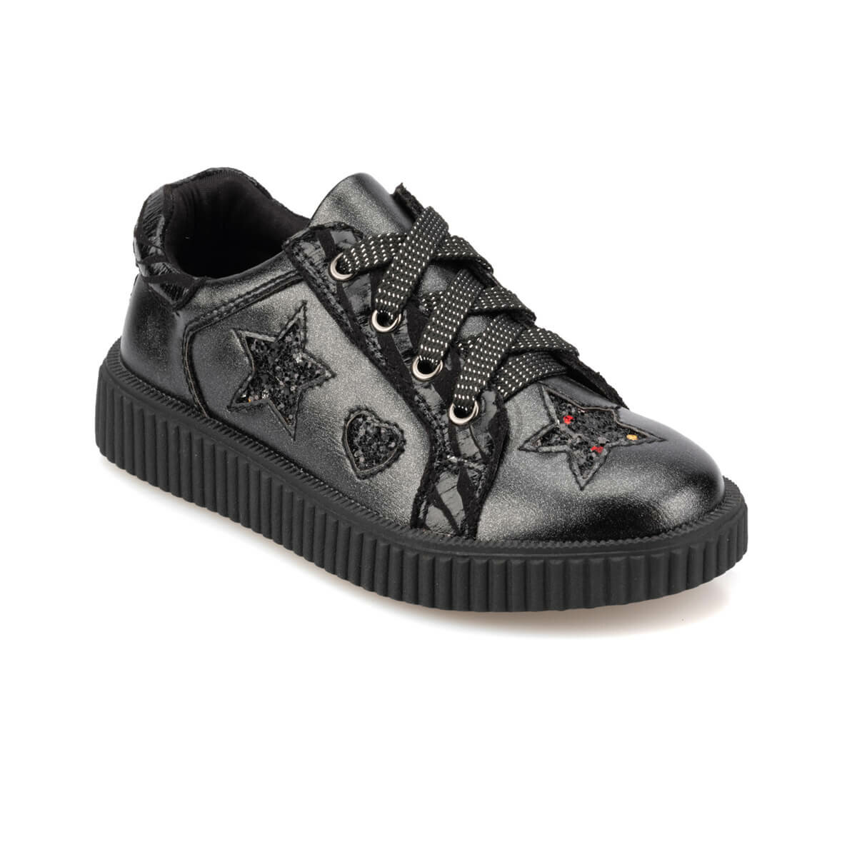 FLO 92. 511785.P Black Female Child Sneaker Shoes Polaris