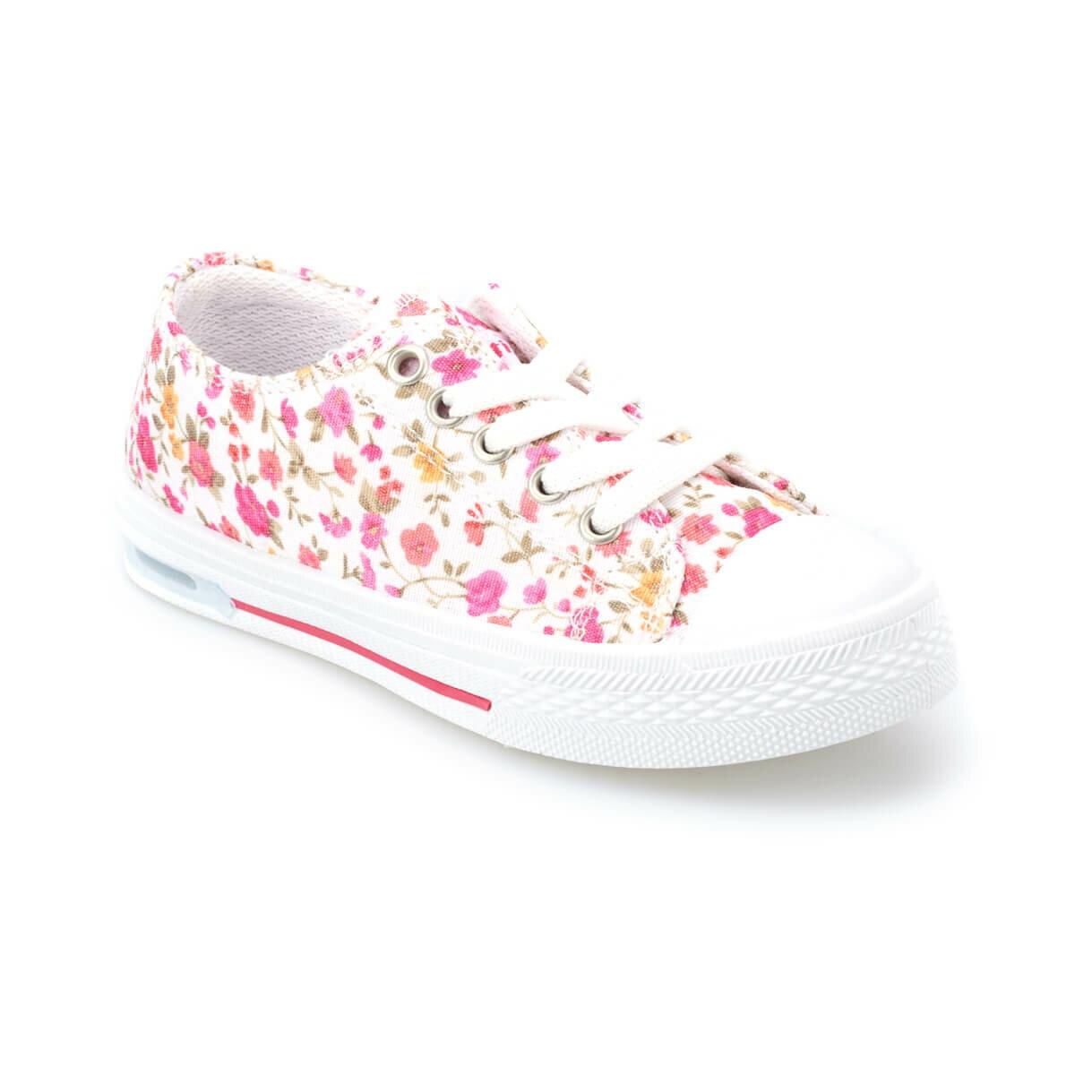 FLO DENNI F White Female Child Sneaker Shoes KINETIX