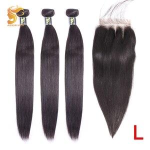 Image 1 - AOSUN бразильские волосы, плетеные пряди волос, пряди с застежкой, 100% человеческие волосы для наращивания, волосы Реми, естественный цвет