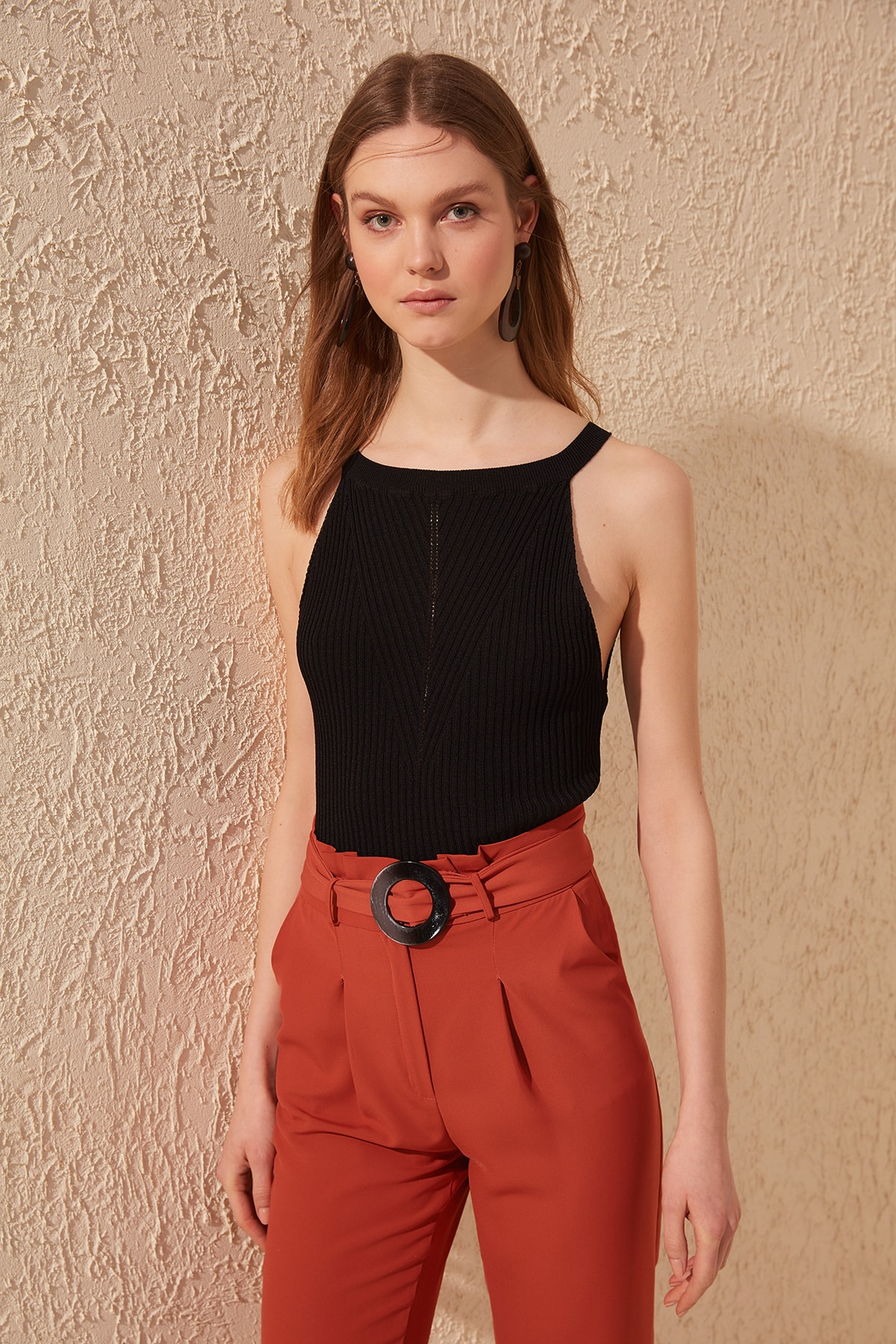 Trendyol Sleeveless Knitwear Bluz TWOSS20BZ0577