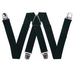 Pantalons bretelles avec clips renforcés (3.5 cm, 4 clips, vert) 54767