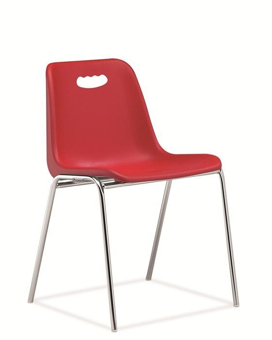 Chair ENCLOSURE With Handhold, Chrome Plated, Red
