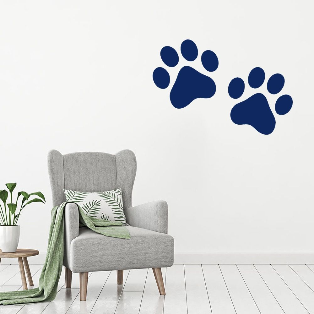 Home Paws Dog Quotes Animals Animal Wall Art Stickers for Kids Home Room Decals