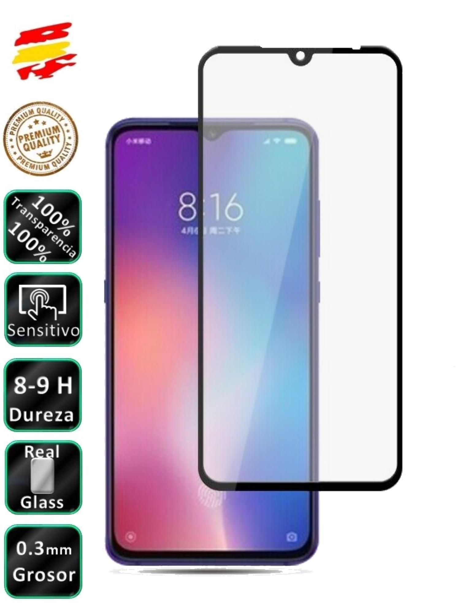 Protector Xiaomi MI 9 /9 LITE /9 PRO Negro Cristal Templado de Pantalla Vidrio movil