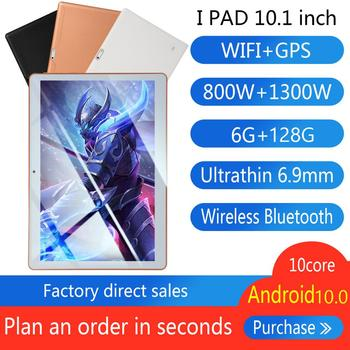 2020 Newest S6 Tablet Pc 10.1 inch  4G LTE MTK6797 Android OS 10.0 Tablets 8+256G 8800mAh Ultrathin High Capacity GPS Tablet PC 10 1 inch official original 4g lte phone call google android 7 0 mt6797 10 core ips tablet wifi 6gb 128gb metal tablet pc