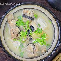 #福气年夜菜#清炖安康鱼豆腐汤的做法图解9