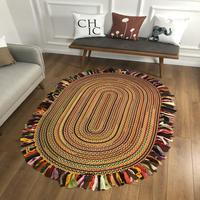 Else Natural Organic Jute Carpet Sisal Natural Fiber Collection Hand Woven Jute Area Rug For Home Living Room Floor Carpet