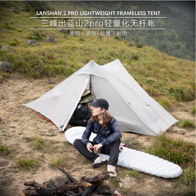 3F UL GEAR LanShan 2 pro namiot 2 osoba 3 sezon Outdoor Ultralight profesjonalny 20D Nylon obie strony silikonowy namiot kempingowy