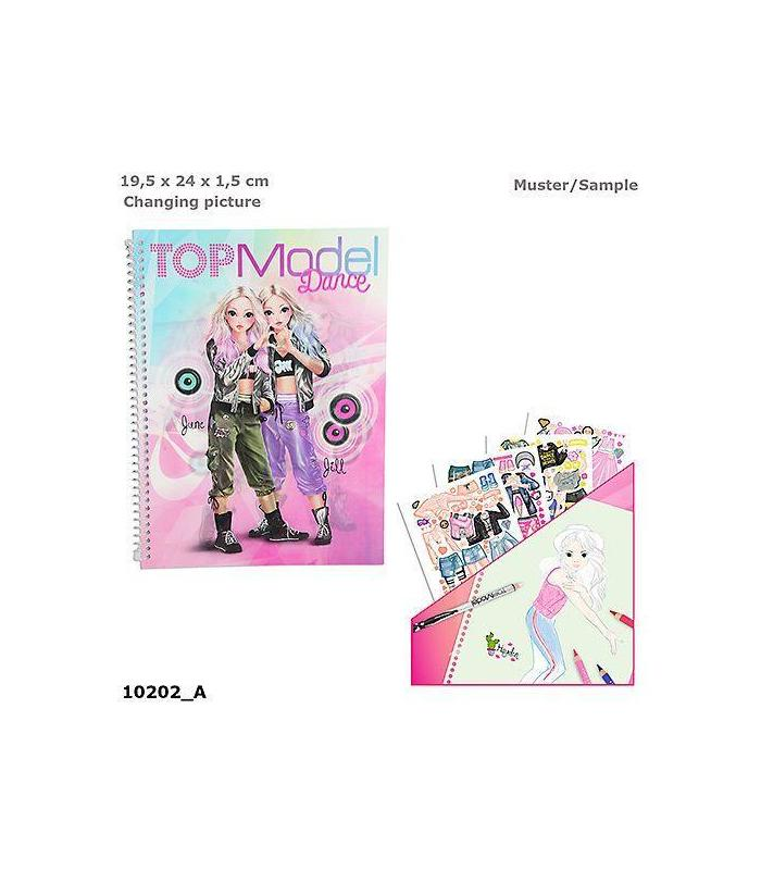 Notebook Coloring Topmodel Dance Toy Store