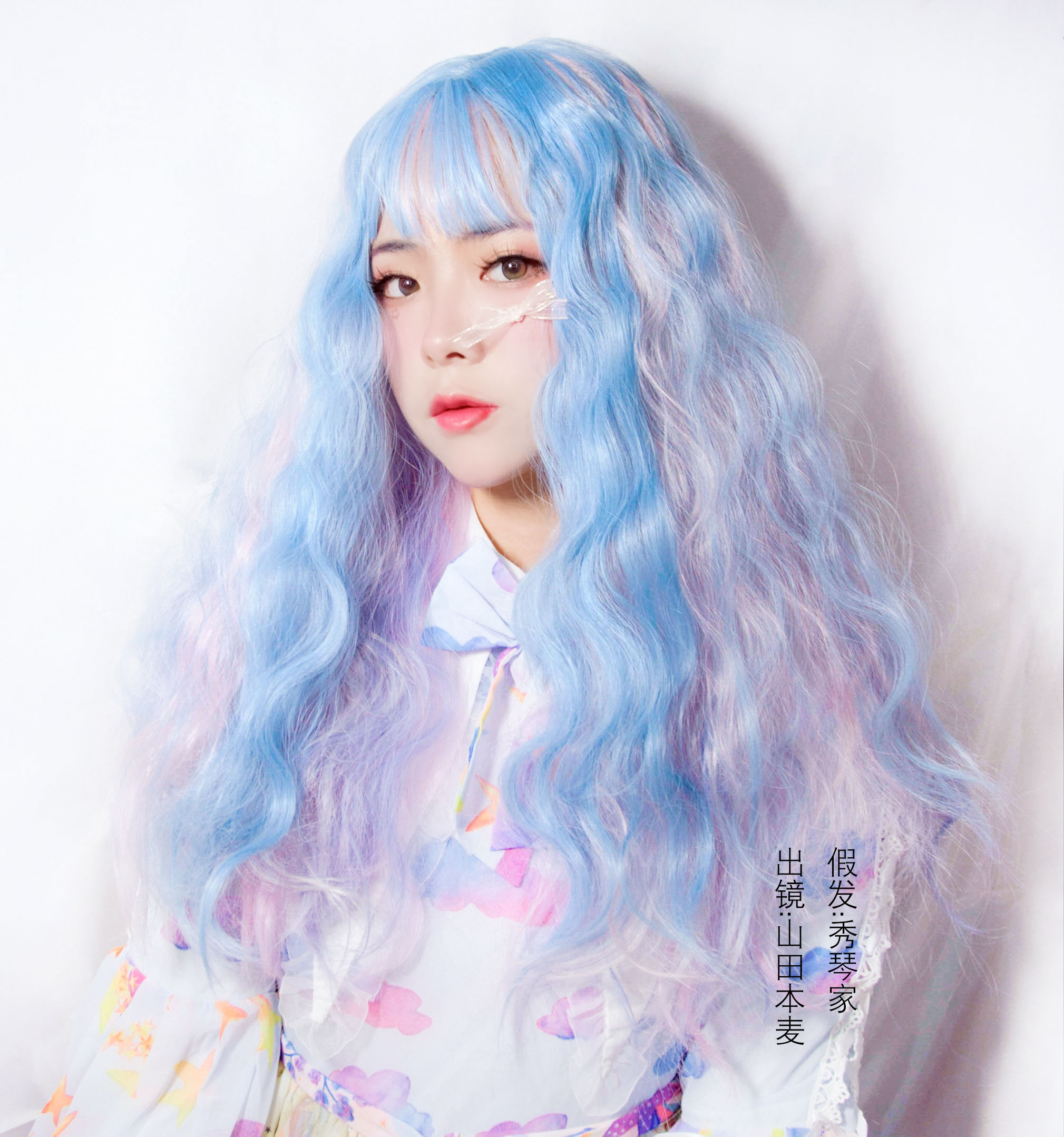 Image 2 - Soft sister Lolita Wig Harajuku UnicornRainbow Macaron Little fairy Marshmallow colored candy dreamy fluffy Double ponytail hairGirls Costumes   -