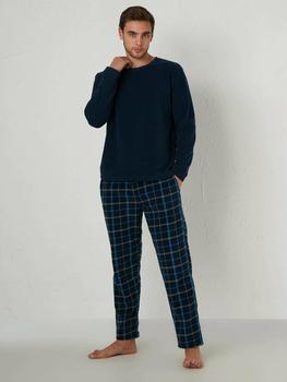 Men Pajamas Set,Long Sleeve ThickChest: 98 cm Waist: 85 cm Hip: 96 cm Height: 186 cm Mannequin is wearing M size product.