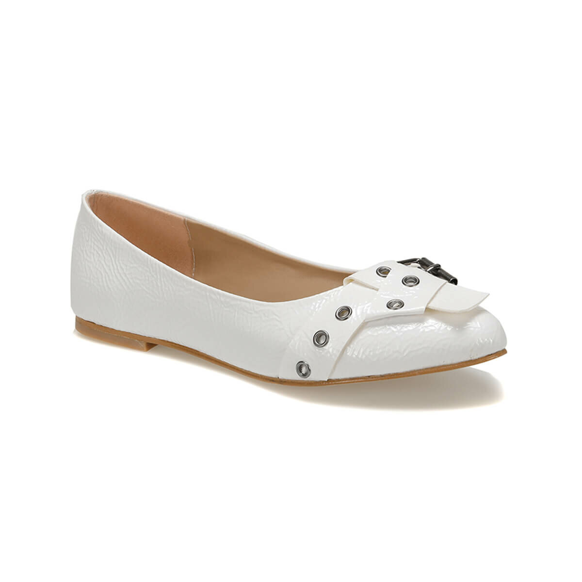FLO LUDO01Z JAPANNED LEATHER White Women 'S Ballerina BUTIGO