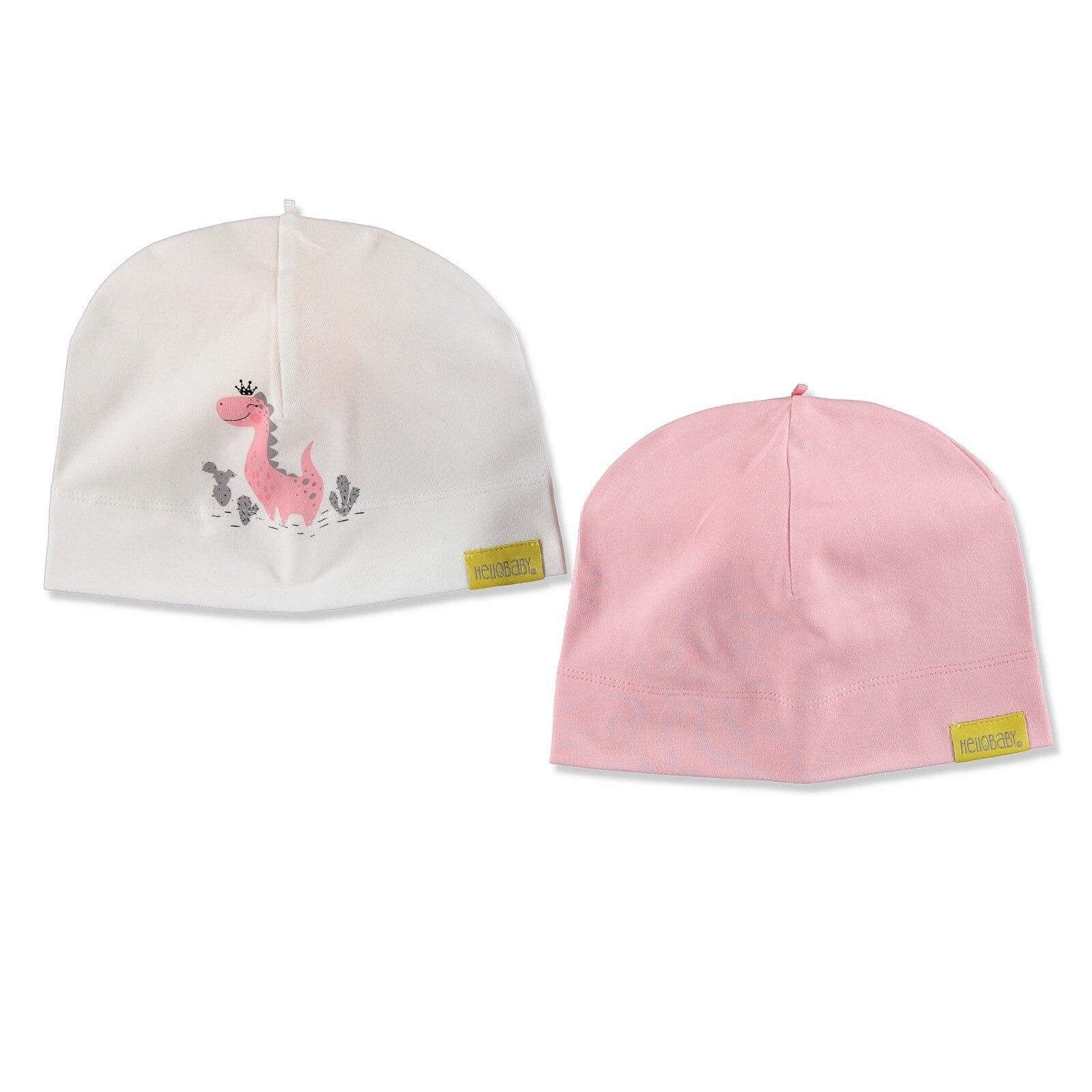 Ebebek HelloBaby Summer Baby Girl Hat 2 Pcs