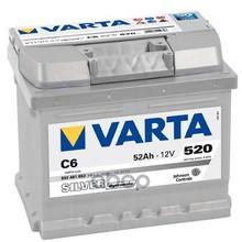 Аккумулятор Silver Dynamic 12v 52ah 520a 207х175х175 Полярность 0 Клеммы 1 Крепление B13(C6) Varta арт. 552401052