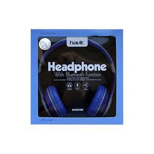 HAVIT casque stéréo Bluetooth FM/MP3 HV-H2575BT bleu-gris