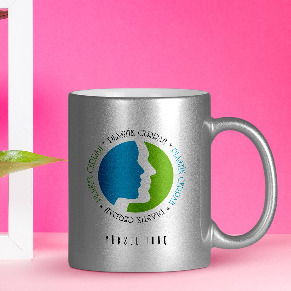 Personalized Professional Plastic Surgeon Silver Gilt Mug Cup image
