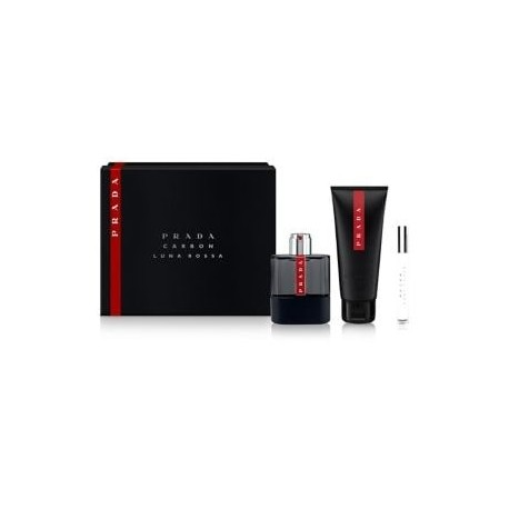 PRADA LUNA ROSSA CHARCOAL 100ML SPRAY + SHOWER GEL 100ML + 10ML SPRAY MINI