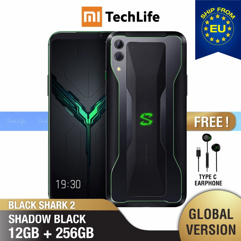 Global Version Xiaomi Black Shark 2 256GB ROM 12GB RAM Shadow Black Gaming Phone (Brand New / Sealed) Blackshark2256