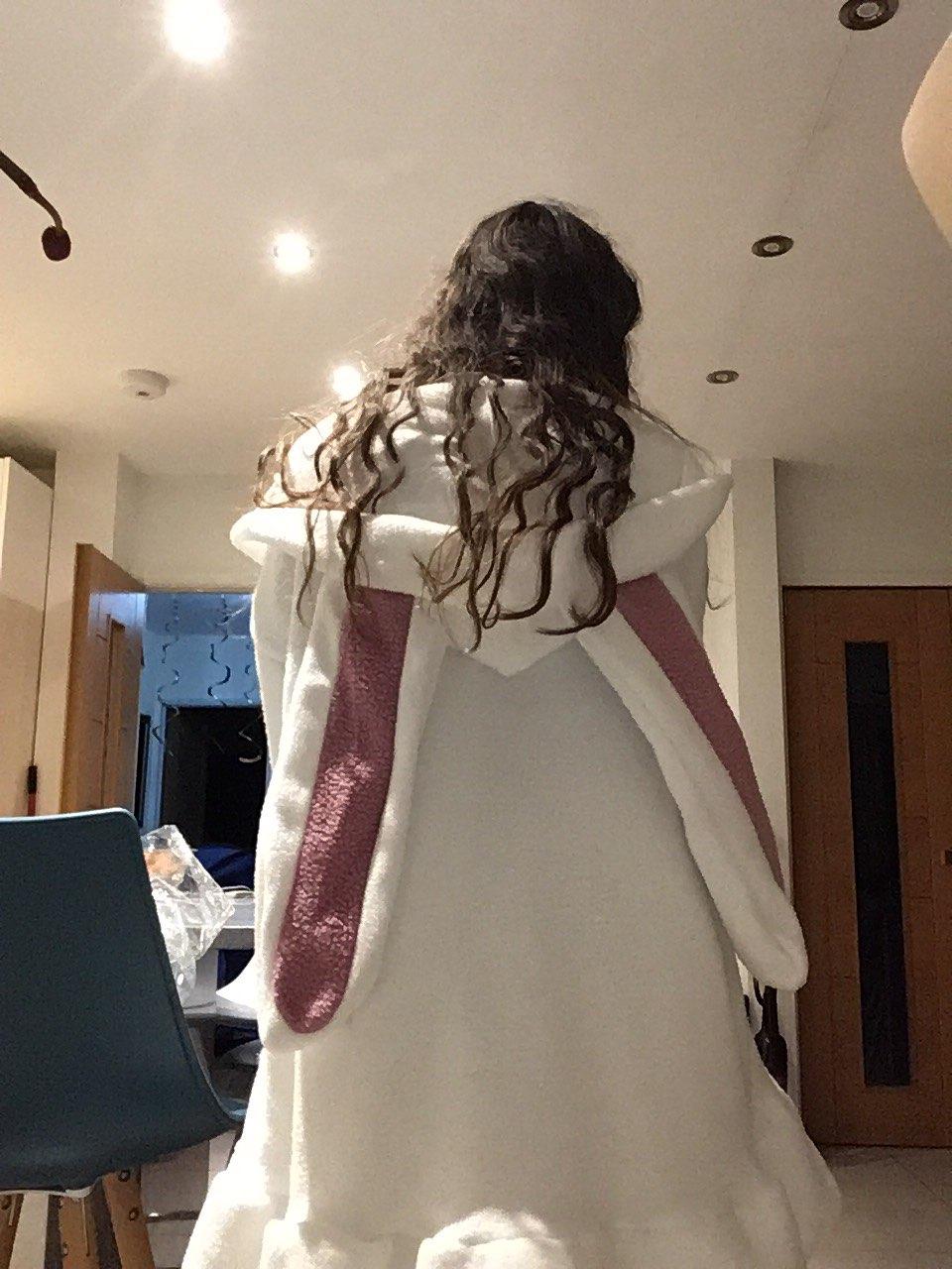 Harajuku Kawaii Rabbit Ear Hoodie Sweatshirt Women Funny White Black Winter Girl Hoodie Oversize Cute Japan Harajuku Clothes photo review
