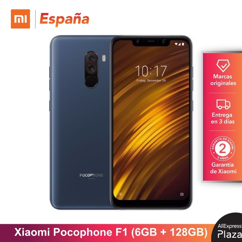 [Global Version For Spain] Xiaomi Pocophone F1 (Memoria Interna De 128GB, RAM De 6GB, Camara 12MP+5MP, Snapdragon 845) Movil