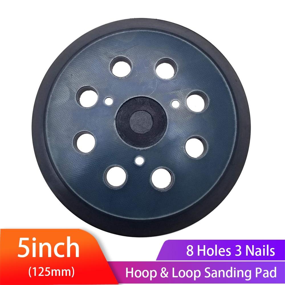 5 Inch 8 Holes Hook Loop Sanding Backing Pad Electric Makita Orbital Sander Disk Sanding Discs Porter Cable Backup Stick On Pad