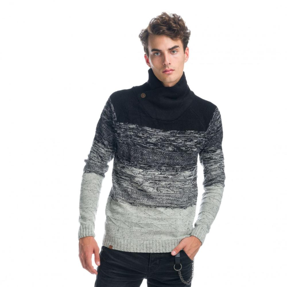 KOROSHI JERSEY TURTLENECK DOUBLE-BREASTED MAN