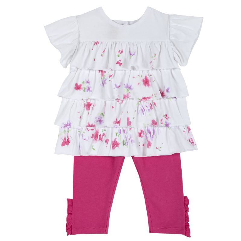 Set T-shirt and leggings Chicco size 086 color pink