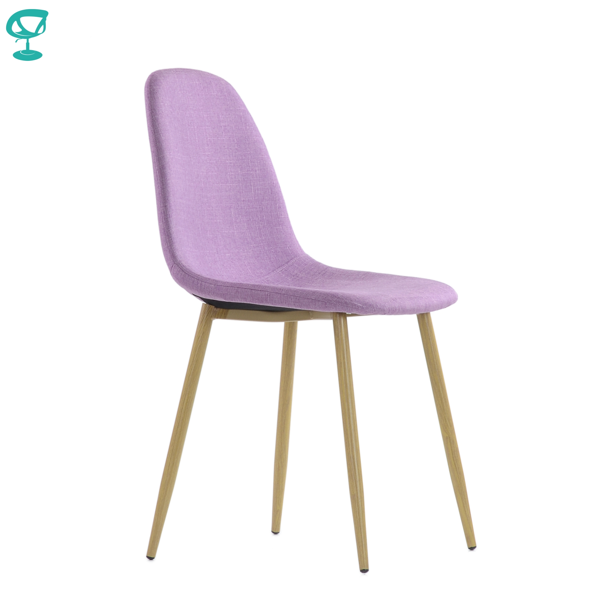 95748 Barneo S-15 Lilac Kitchen Chair Legs Metal Seat Fabric Chair For Living Room Dining Table Chair Furniture For Kitchen