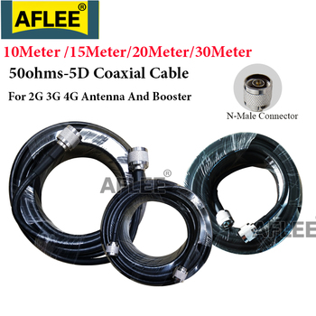 free ship 10m 20m teflon rf coaxial cable rg142 od 5mm cable connector 50ohm m17 60 shield cable 10M/15M/20M/30Meter 50ohms 5D Coaxial Cable N male to N male connector RF Adapter For 2g 3g 4g Mobile Signal Booster Repeater