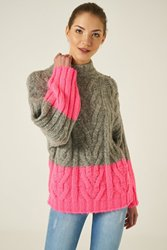 Joinus Cable Knit Jumper Woman Grey Marl