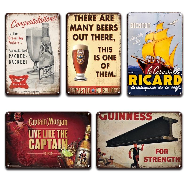 Captain Morgan métal signe Man Cave Rétro Pub Bar Vintage Plaque Murale bière Garage