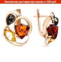 Sterling silver earrings with amber sunlight 925
