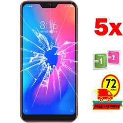5x Protectors Screen szkło hartowane dla Xiaomi Redmi 6 PRO (nie pełne patrz informacje) w Etui do ekranu telefonu od Telefony komórkowe i telekomunikacja na
