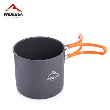 Widesea Camping Aluminum Cup Outdoor Mug Tourism Coffee Drink Cooking Tableware Picnic Equipment Tourist Trekking Hiking Travel widesea camping cookware titanium tableware tourist pot outdoor cooking kitchen picnic utensils backpack hiking trekking